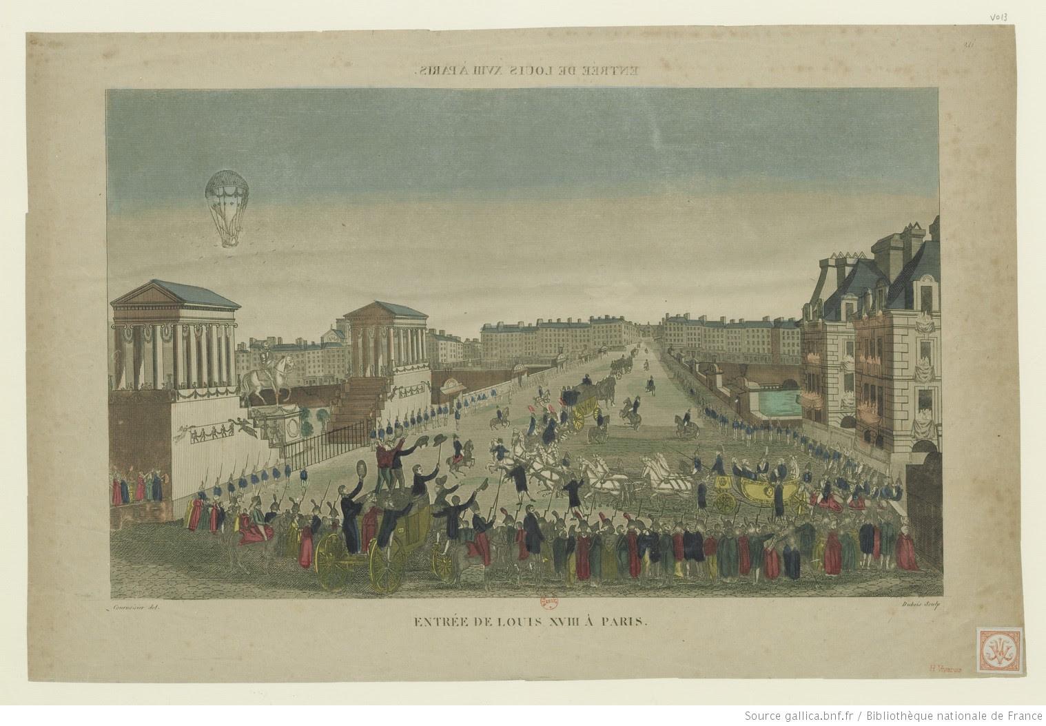 Entrée de Louis XVIII à Paris : [3 mai 1814]. 26 : [estampe] / Courvoisier del. ; Dubois sculp. - 1
