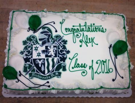 Graduation Sheet Cake with School Logo Photoscan