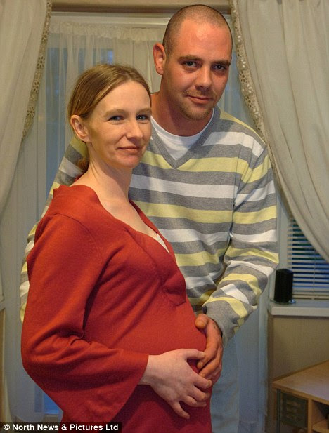 Shocked: Mother-to-be Dawn Kelley with partner William Hickman. Dawn said the image in her scan was a 'bit spooky'