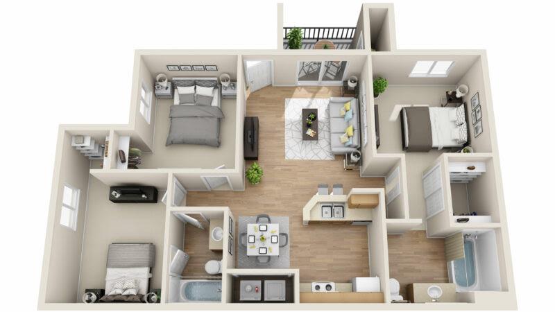 11 Desain Rumah Ukuran 6x9 3 Kamar Tidur Modern Yang Unik