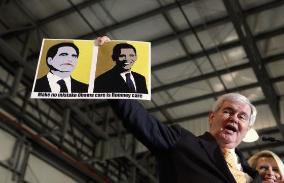 Gingrich promete mantener el duelo con Romney hasta el final