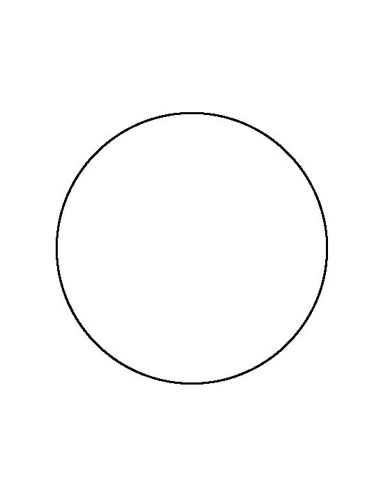 6 inch circle pattern. Use the printable outline for crafts ...