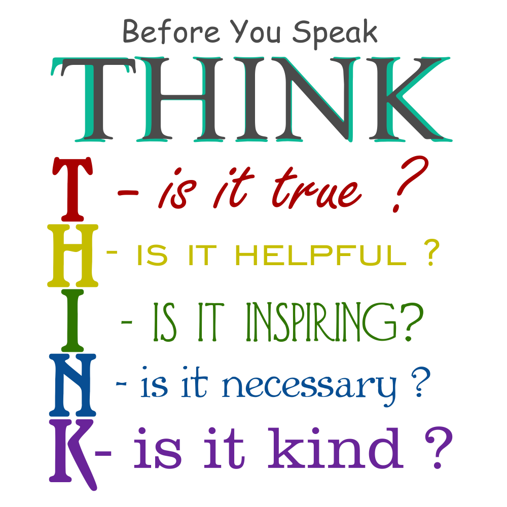Before You Speak Think Samuel Chee