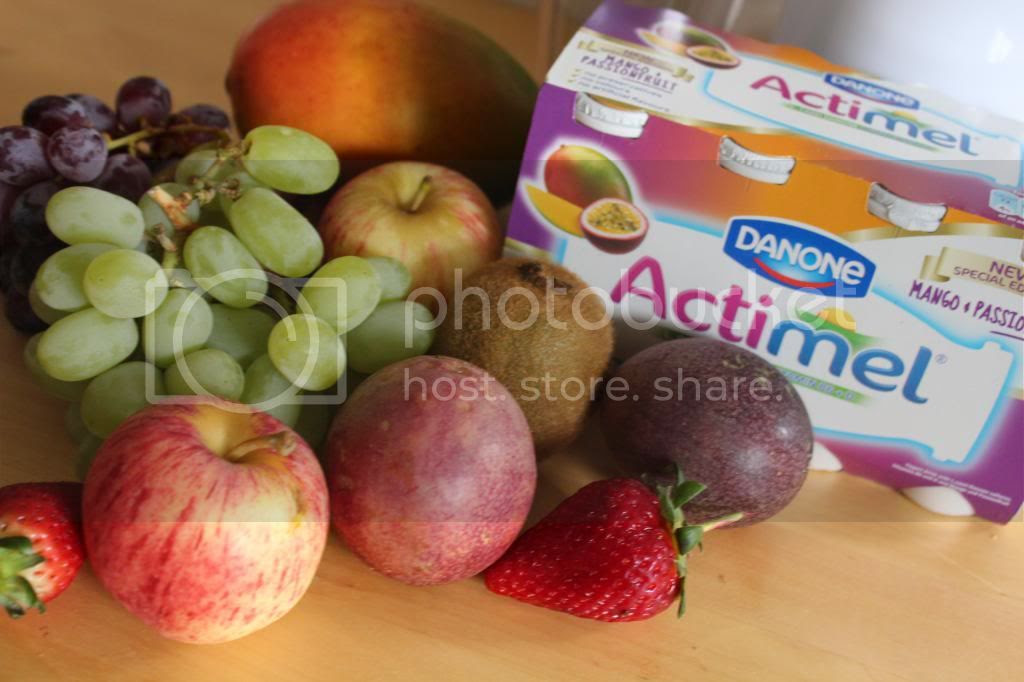 Actimel and fruit