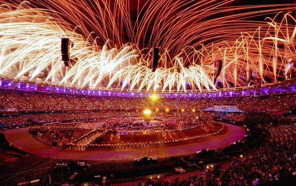 London's Olympic Opening Ceremony concludes with fireworks on July 27, 2012.