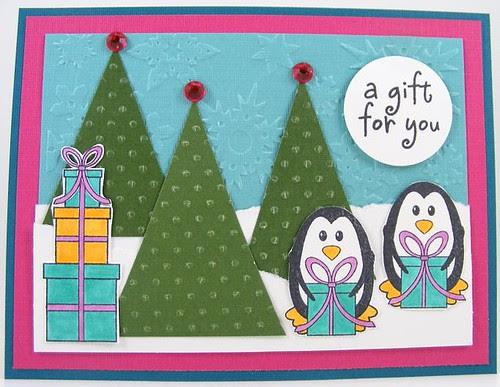 SOL October Gift Penguins Card