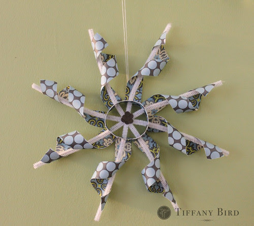 twisted paper snowflake