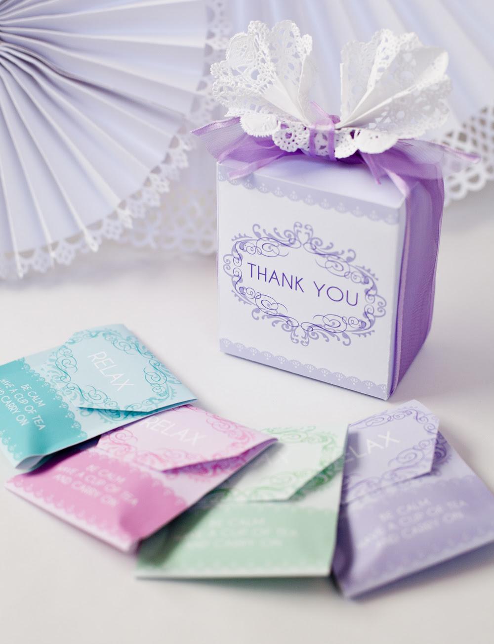 Diy Baby Shower Tea Party Favor Free Printable