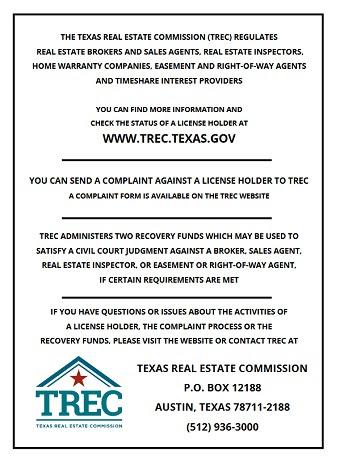 Consumer Protection Notice Trec