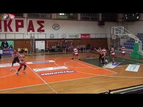 Στιγμιότυπα από τον αγώνα Μέγας Αλέξανδρος-ΑΕΕ Τούμπας για την προηγούμενη αγωνιστική της Α΄ ΕΚΑΣΘ ανδρών