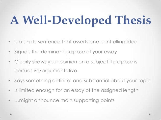 thesis statement examples history