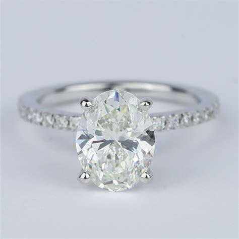 Pave Oval Cut Diamond Engagement Ring (2 Carat)