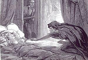 Illustration in Carmilla, Joseph Sheridan Le F...