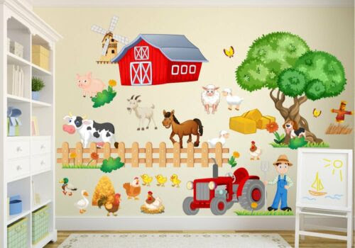 Home Decor Items Nikima 020 Wandtattoo Bauernhof Traktor Farm Tiere Kuh Huhn Kinderzimmer Farm Home Furniture Diy Cruzeirista Com Br
