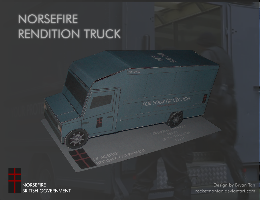 Norsefire SWAT Vehicle Papercraft
