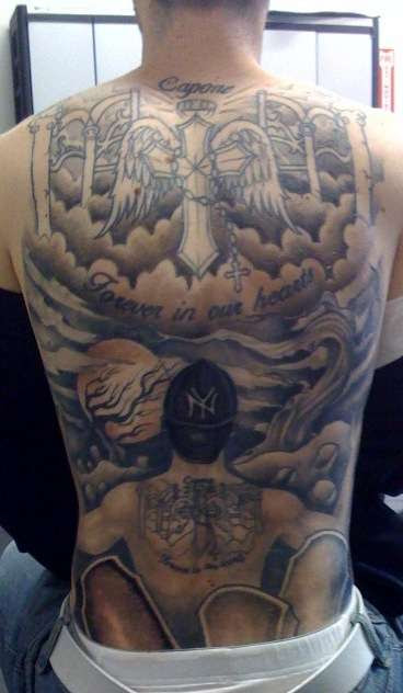 Looking Up To Heaven Tattoo