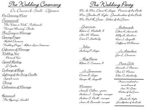 Creative Wedding Programs   Wedding ceremony programs