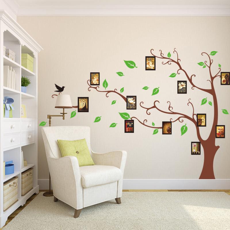 Family Tree Photo Frame Tree Bird Wall Sticker Living Room