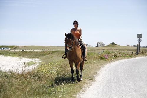 Woman on a horse in Brignogan 2