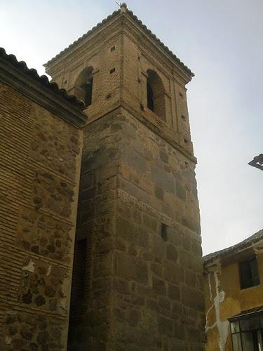 Torre de la Iglesia de El Salvador de Toledo tras las obras que han liberado un flanco con restos visigóticos