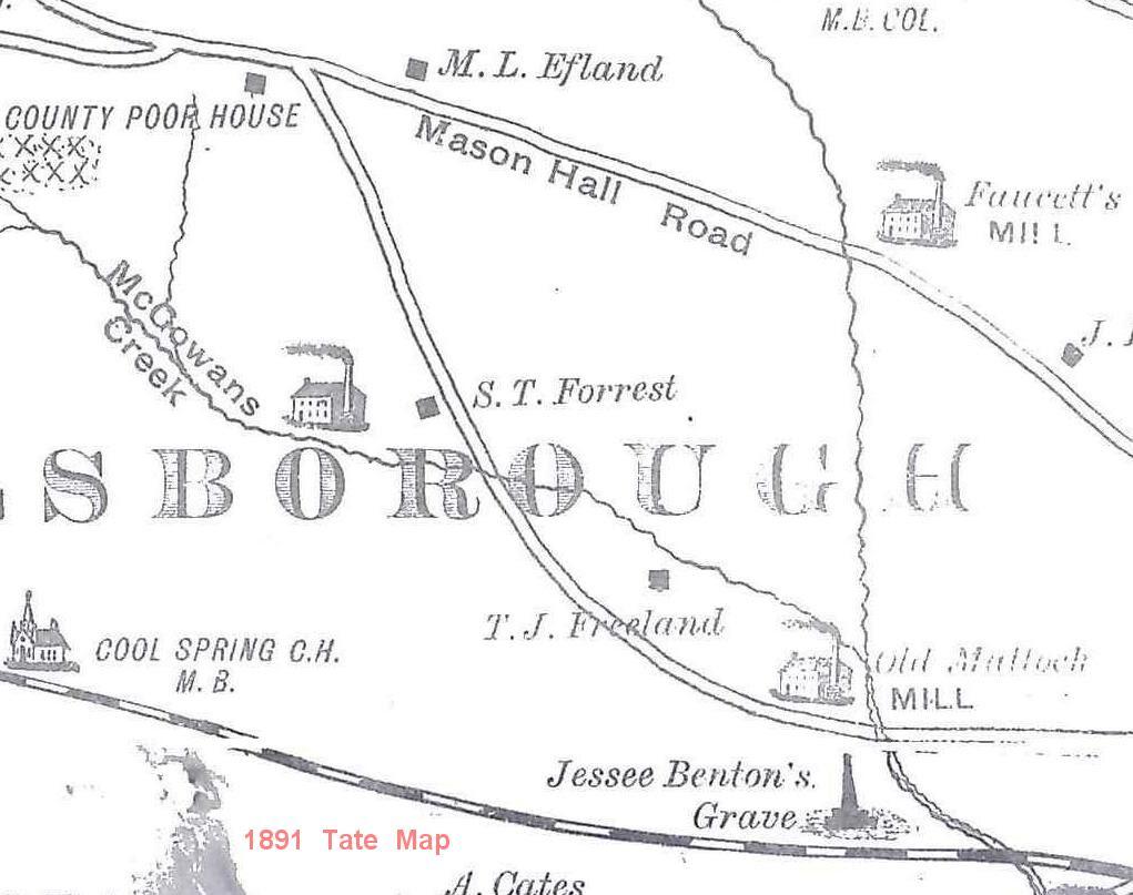 Tate Map crop of Mattocks Mill area.