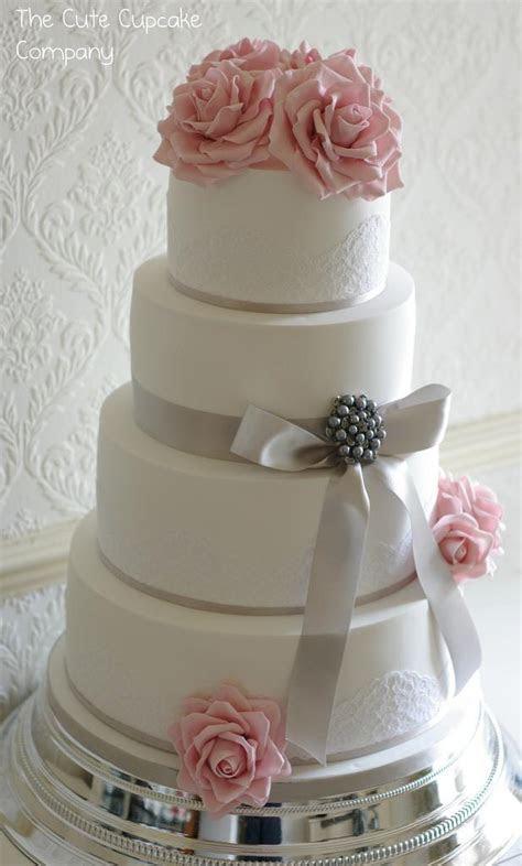 Wedding Cakes   Pink And Dove Grey Wedding Cake #1930520