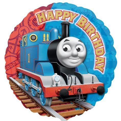 "5 x Thomas and Friends Happy Birthday 18"" Foil Balloon"