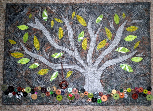 Tree Quilt for Project QUILTING's Off Season - It's All in your initials challenge