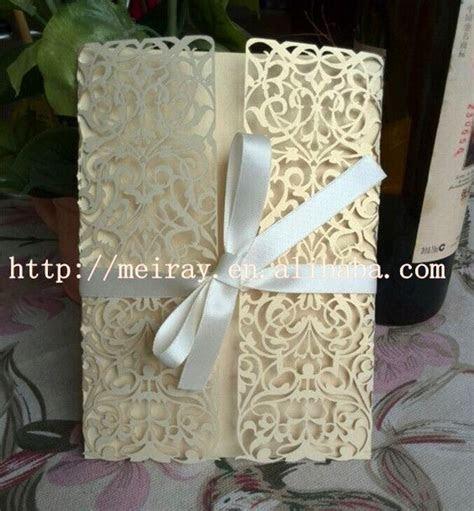 Elegant Unique Wedding Invitation Cards,Light Gold Pearl