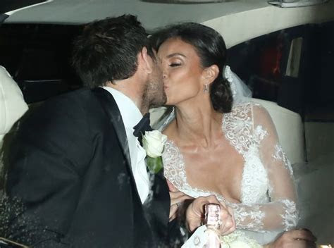 Christine Bleakley flashes her wedding ring after tying