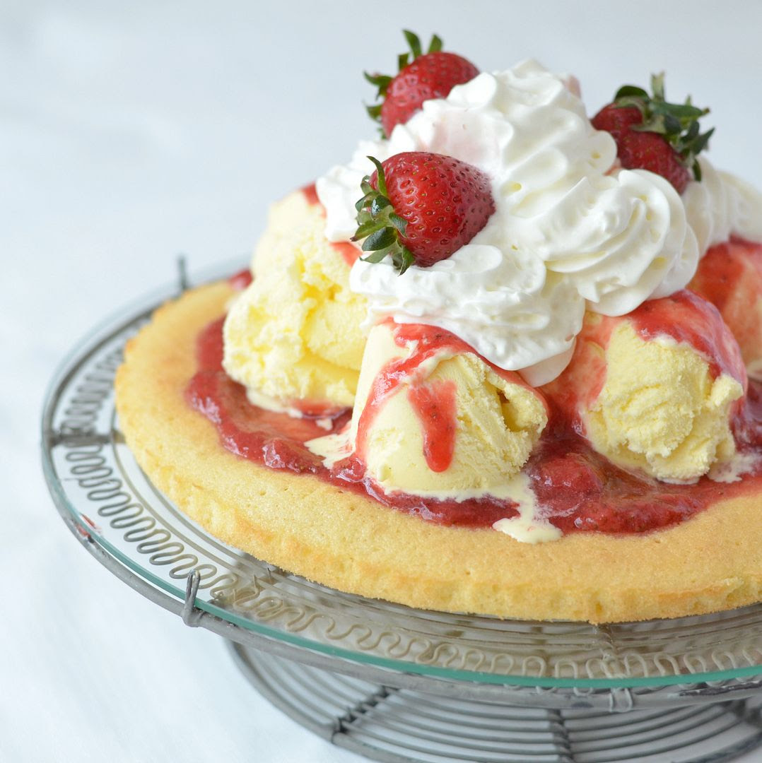 Strawberry Ice Cream Flan