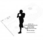 Football Quaterback Silhouette Yard Art Woodworking Pattern - fee plans from WoodworkersWorkshop® Online Store - football,sports,silhouettes,shadows,black,yard art,painting wood crafts,scrollsawing patterns,drawings,plywood,plywoodworking plans,woodworkers projects,workshop blueprints