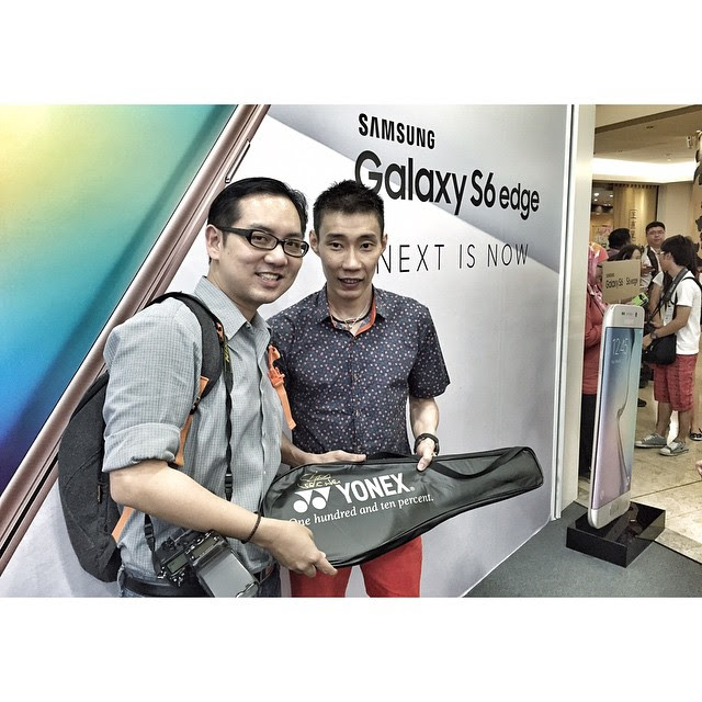 Excited. I can haz a Yonex racquet personally autographed by Dato LEE CHONG WEI today at the Samsung Galaxy S6 and S6 edge consumer launch.   #isaactech #lcw #dato #leechongwei #myGalaxyS6 #myGalaxyS6edge #tech #technology #blogger #event #mobile #yonex
