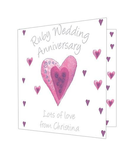 Personalised Ruby Anniversary Card   Just for Gifts