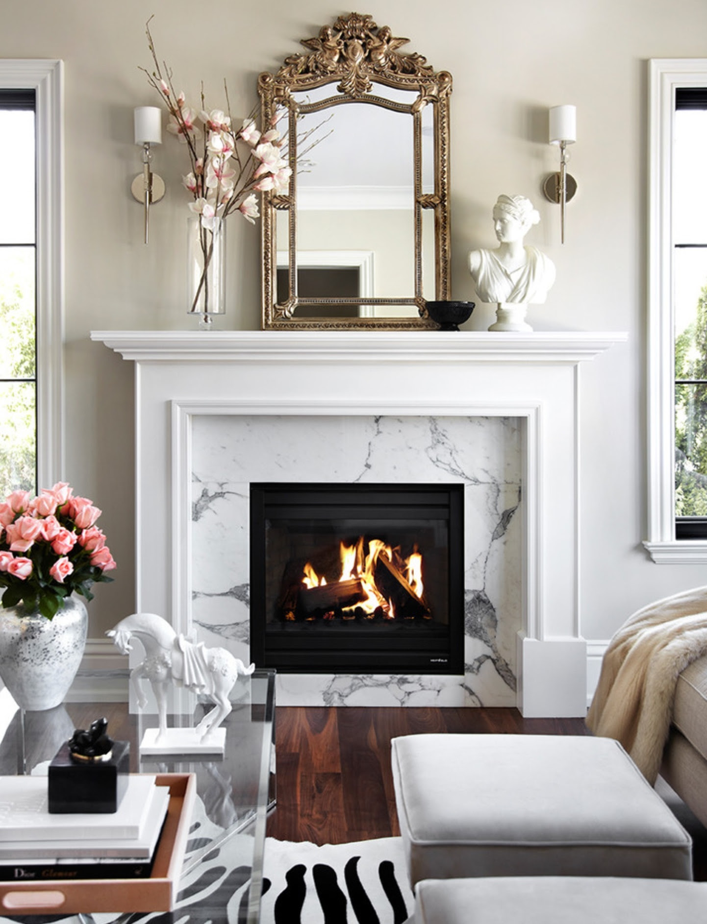 40 Beautiful Living Room Designs With Fireplace - Interior