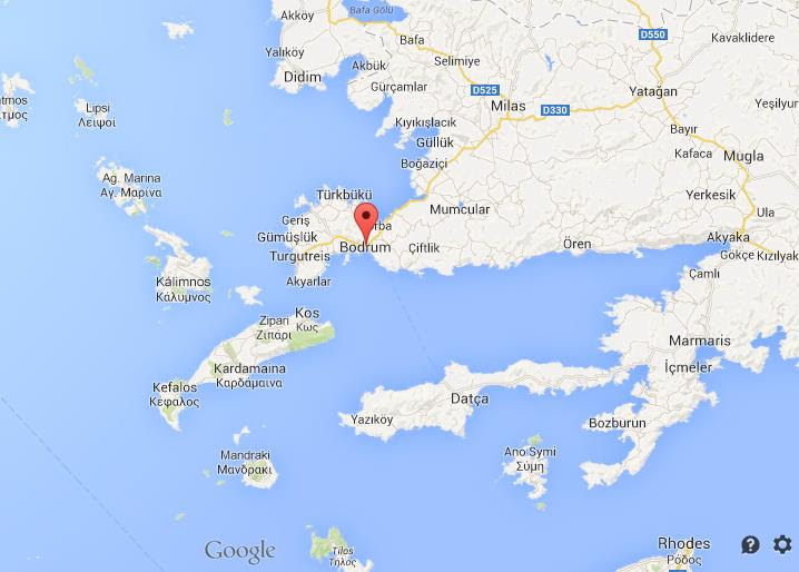 Where Is Bodrum On Map Of South Turkey