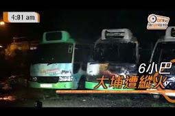 Sebanyak 6 Green Minibus Terbakar Di Tempat Parkir