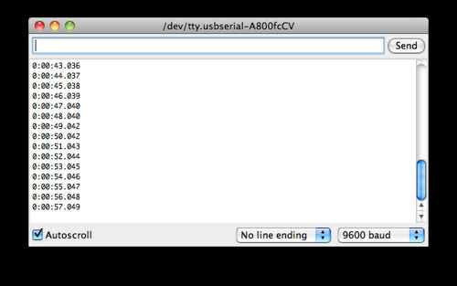 Screen Shot: Elapsed Time