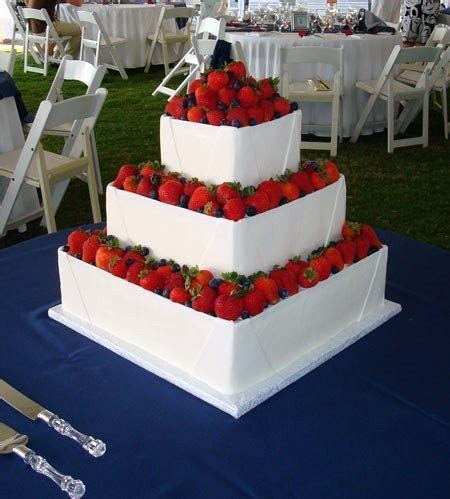 July 4th Wedding Cake by Just Desserts   Delightful Cakes