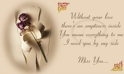 Without Your Love There An Emptiness Inside You Mean Everything To