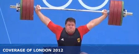 A 432-pound weight fell on Germany's Matthias Steiner's neck during an Olympic weightlifting competition. (Via NBC)