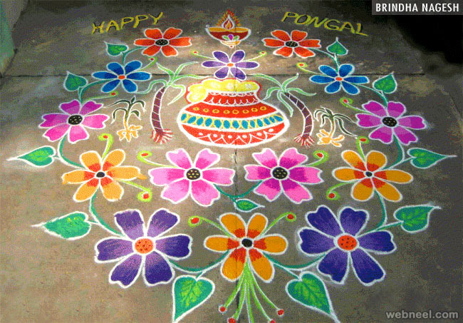 Image result for pongal kolam designs