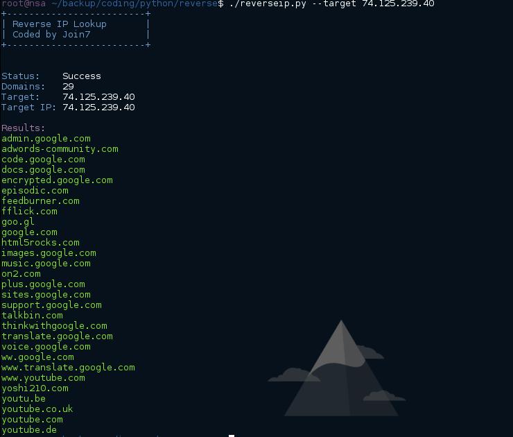 JoinSe7en's Blog: [Tool] Reverse IP lookup - Find domains on