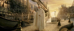 rotk Gandalf waits in the Grey Havens