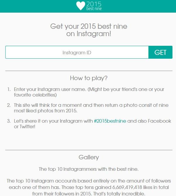 Cara Membuat 9 Foto Terbaik 2015bestnine Kamu Di Instagram Gadgetren