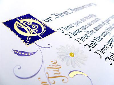 Gothic wedding calligraphy Wedding invitation envelopes in calligraphy