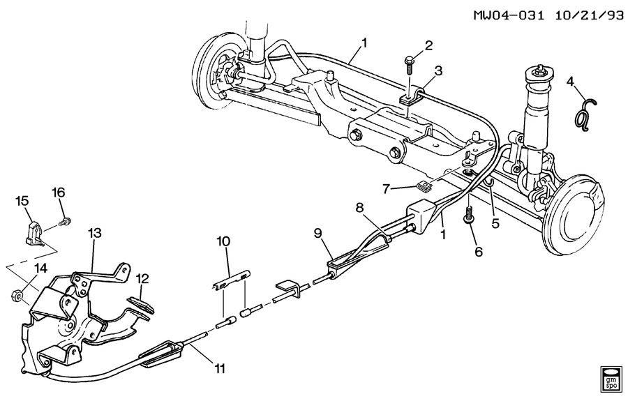 31 2004 Chevy Silverado Emergency Brake Cable Diagram