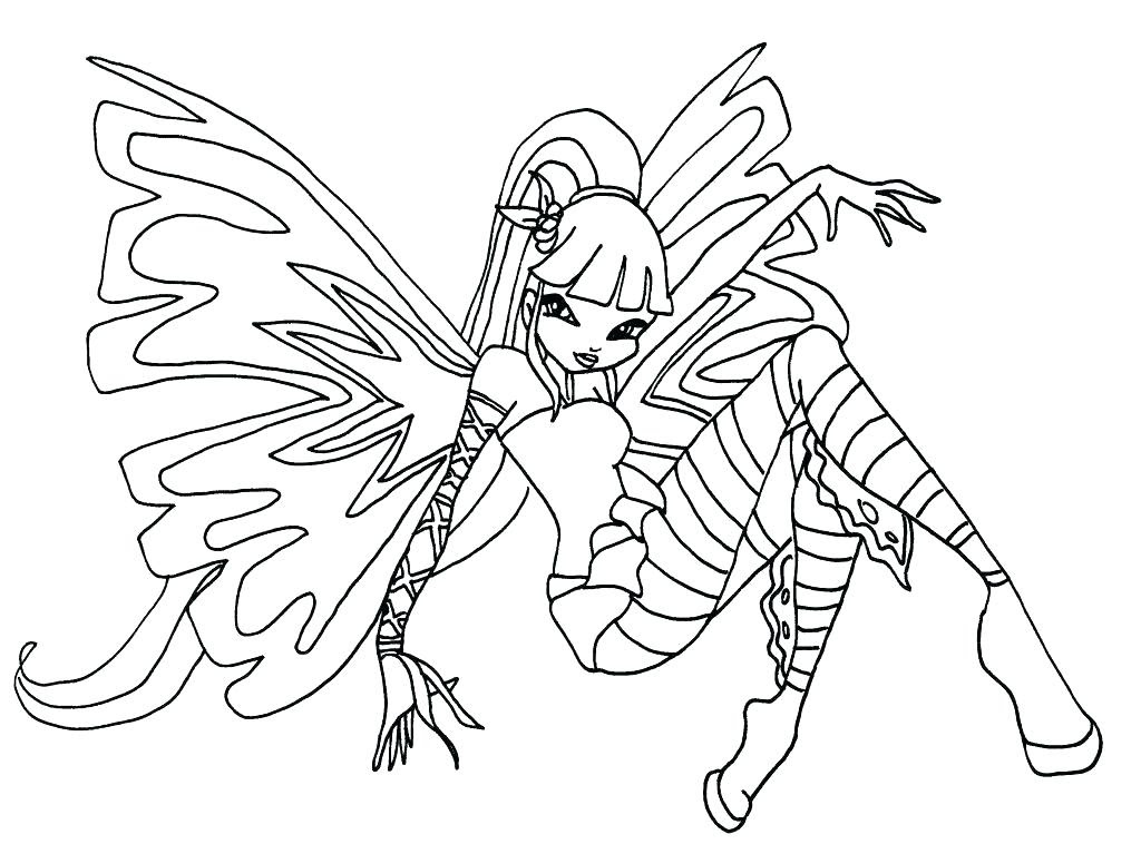Winx Club Musa Coloring Pages At Getdrawingscom Free For Personal