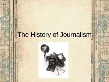 a history of journalism The history of journalism ethics can be divided into fi ve stages the fi rst stage is the invention of an ethical discourse for journalism as it emerged in western europe during the sixteenth and.