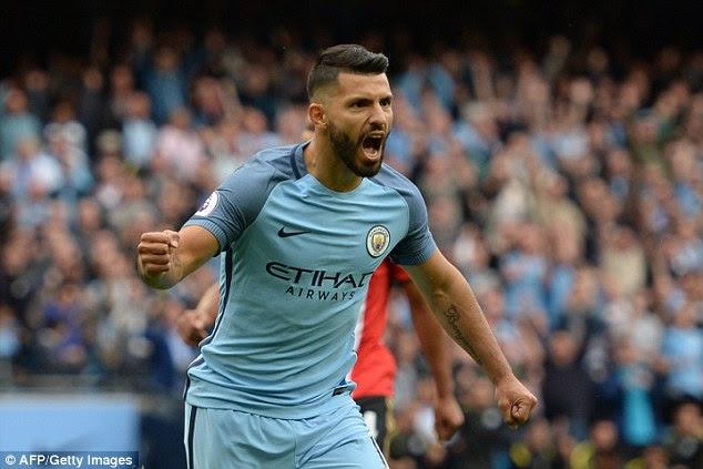 City striker Sergio Aguero is arguably the Premier League's best ever natural centre forward